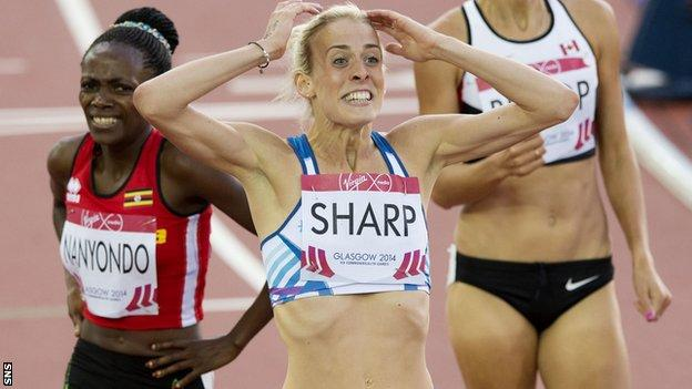 Lynsey Sharp claims silver at Glasgow 2014