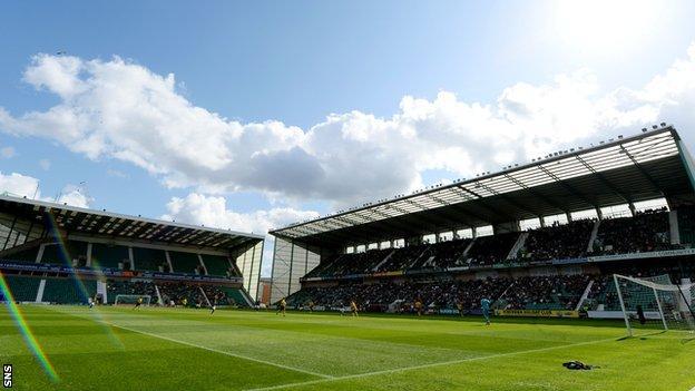 Hibernian's Easter Road stadium