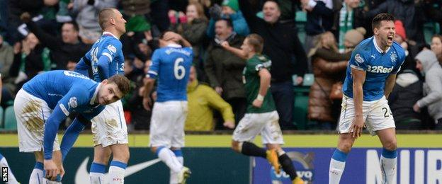 Rangers suffer at Easter Road