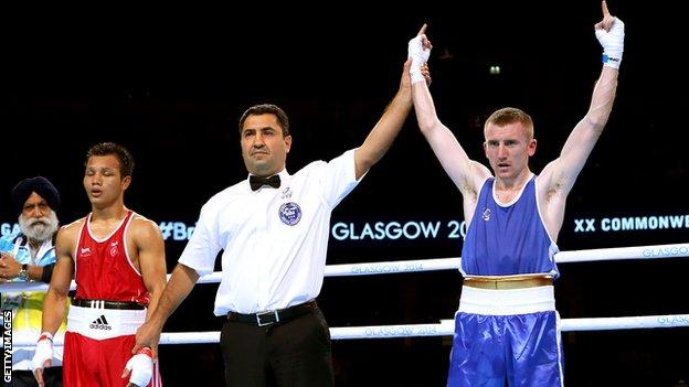 Paddy Barnes defeated India's Devendro Laishram in the 2014 Commonwealth Games final