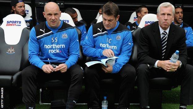 Steve Stone. John Carver and Alan Pardew