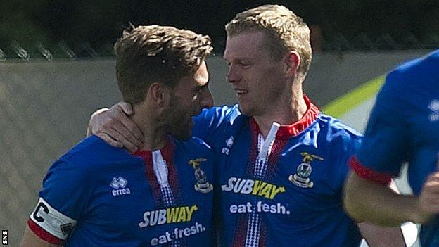Inverness players Graeme Shinnie and Billy McKay