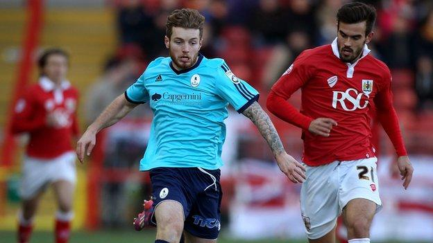 AFC Telford United defender Ryan Higgins was part of the Bucks team who took Bristol City all the way in early December