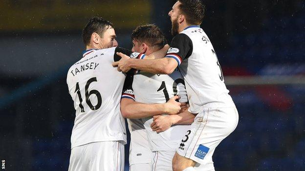 Inverness Caley Thistle's players celebrate