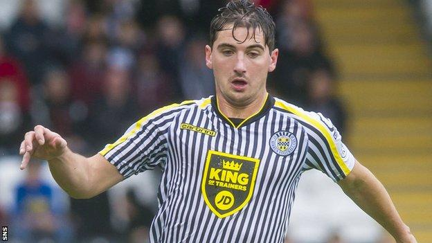St Mirren midfielder Kenny McLean