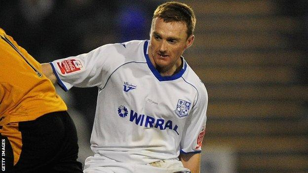 Craig Curran in action for Tranmere Rovers