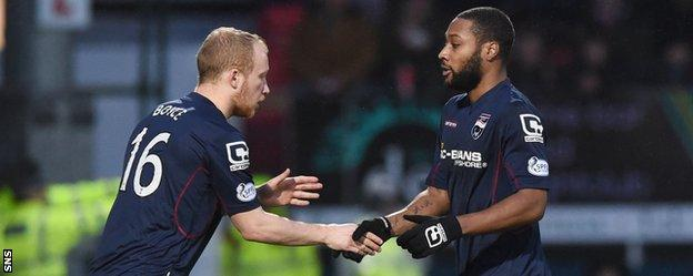 Liam Boyce replaces Yoann Arquin against Inverness