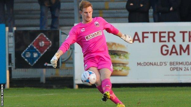 On-loan Nuneaton Town keeper Christian Dibble