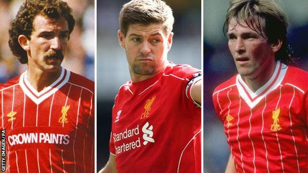 Graeme Souness, Steven Gerrard and Kenny Dalglish