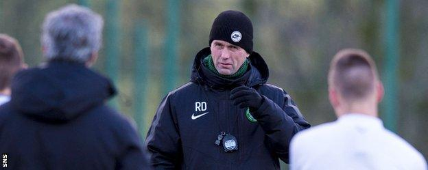 Celtic manager Ronny Deila takes training