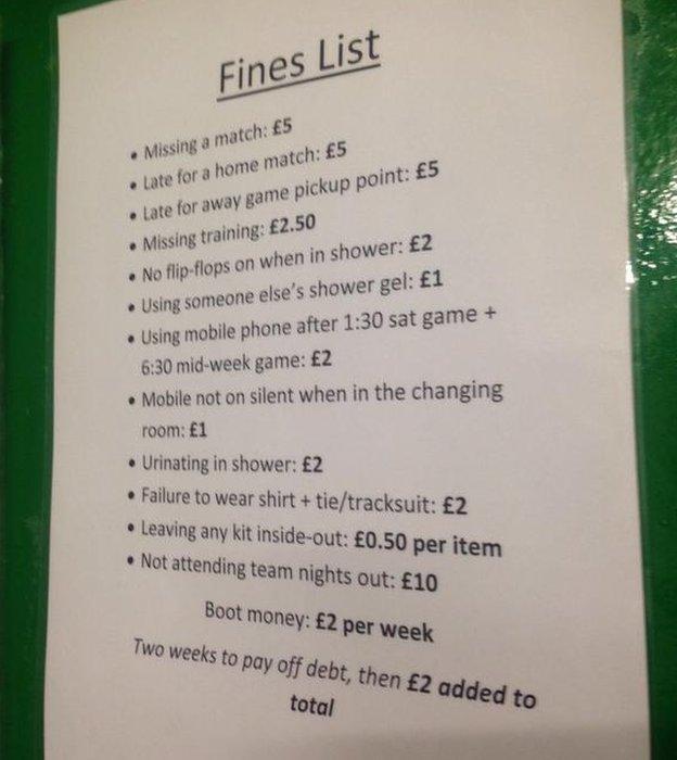 Blyth fines list