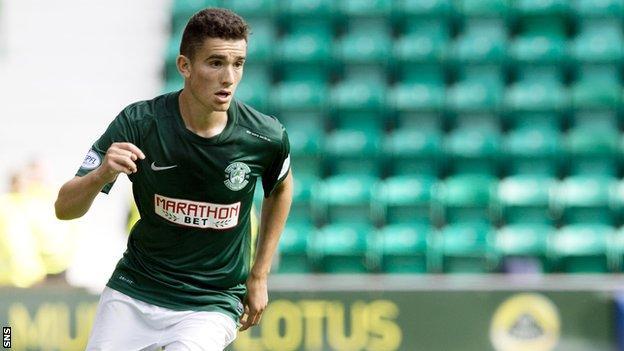 Hibernian's Alex Harris has joined Dundee on loan