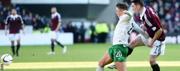 Jamie Walker nets for Hearts
