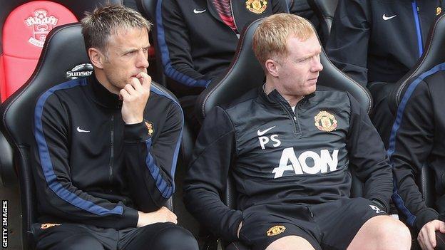 Phil Neville and Paul Scholes