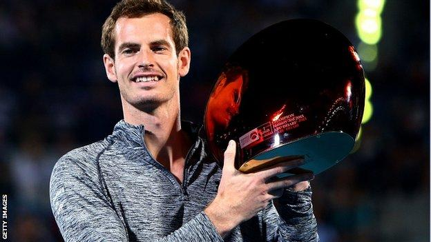 Andy Murray collected his first trophy of the 2015 season after Djokovic withdrew from the final