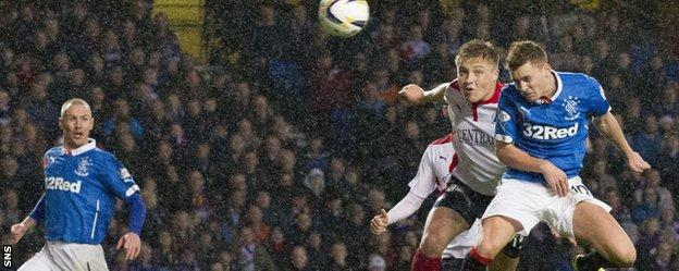 Lewis Macleod scores against Falkirk