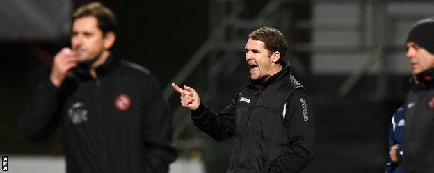 Jackie McNamara and Alan Archibald on the touchline