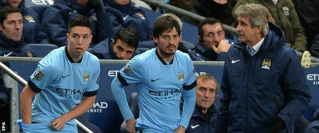 Samir Nasri and David Silva