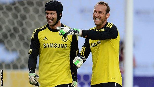Petr Cech and Mark Schwarzer
