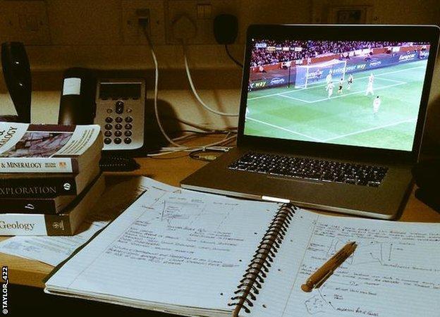 Peter Taylor revises while watching Arsenal v Hull