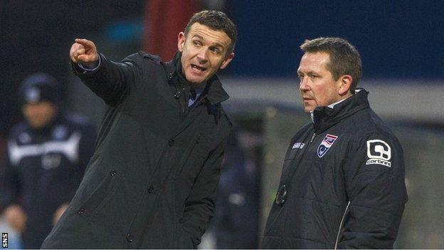 Jim McIntyre and assistant Billy Dodds