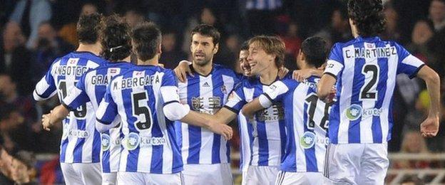 Real Sociedad celebrations