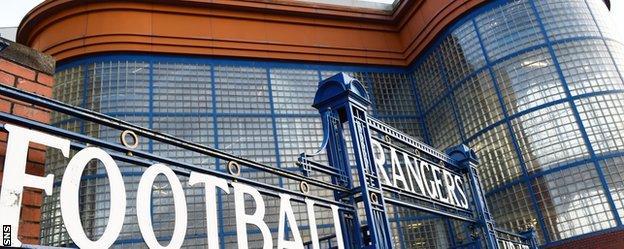 Rangers Football Club's Ibrox Stadium