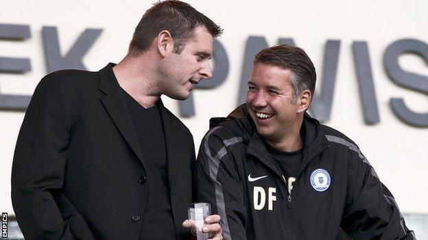 Darragh MacAnthony and Darren Ferguson