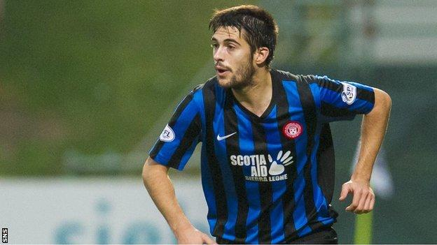 Hamilton Accies left-back Stephen Hendrie