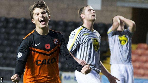 Dundee United midfielder Charlie Telfer