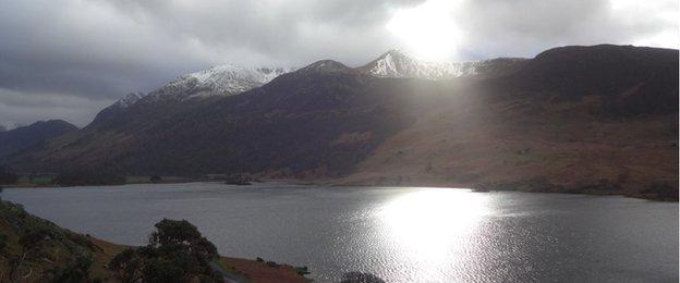 scenic image of Crummock water in the Lake district