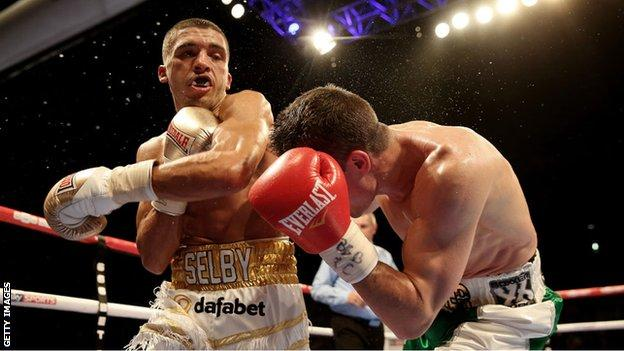 Featherweight Lee Selby stopped Joel Brunker in nine rounds to earn his IBF world title shot