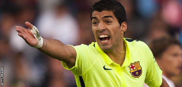 Suarez has scored just three goals in 12 games for Barcelona