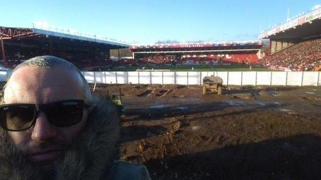 Bristol City fan Ben Swift