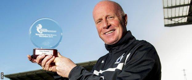 Falkirk boss Peter Houston