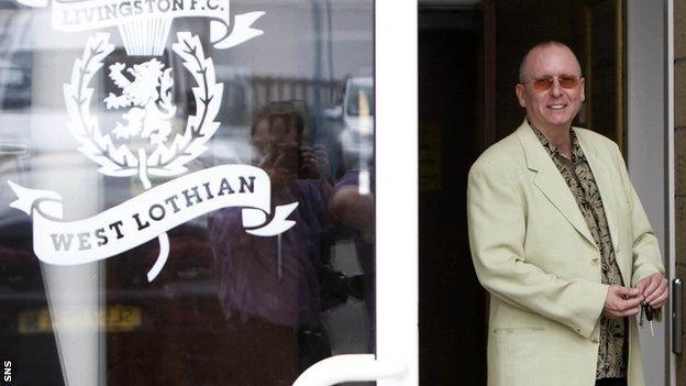Livingston owner Neil Rankine