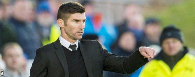 Livingston player-manager Mark Burchill