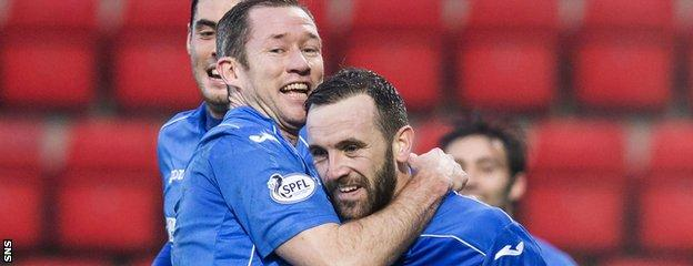 St Johnstone forward James McFadden