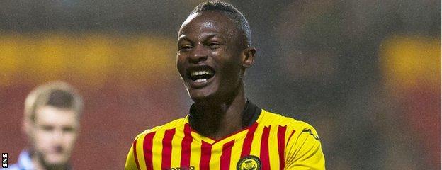 Partick Thistle midfielder Abdul Osman