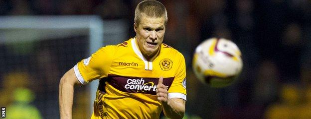 Motherwell forward Dave Scott