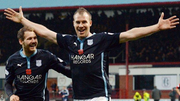 Dundee striker David Clarkson