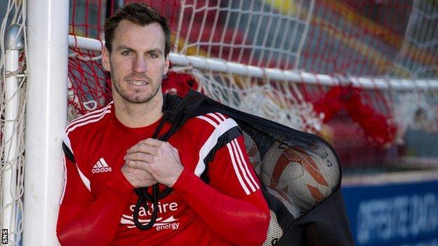 Aberdeen goalkeeper Scott Brown
