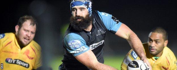 Glasgow captain Josh Strauss