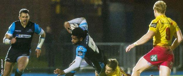 Niko Matawalu impressed for Glasgow at scrum-half