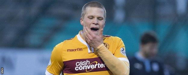 Motherwell's Henrik Ojamaa ponders life as he is sent off
