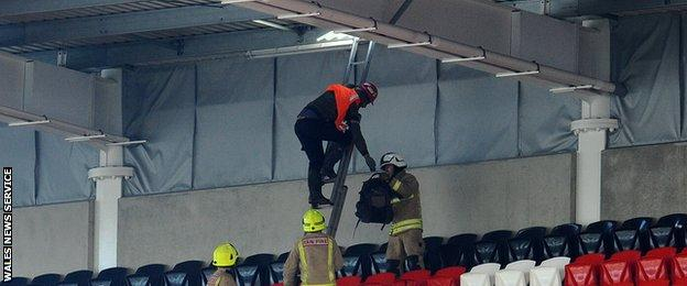 Repairs were required to the Ninian Stand