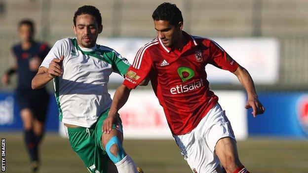 Rival Egyptian teams Al Ahly and Al Masry face each other