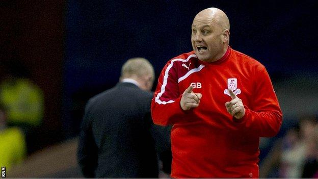 Airdrieonians manager Gary Bollan