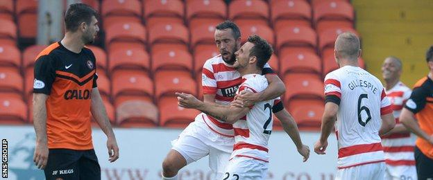 Hamilton and Dundee United drew 2-2 at Tannadice in September