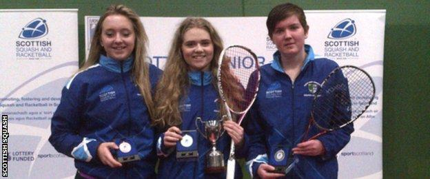 Elspeth Young, Claire Gadsby and Kirsty Lobban made it an all-Scottish trio on the podium in the Under-19 category